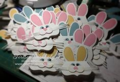 bunny treat bag toppers ... adorable ... used My Digital Studio and the Cameo paper cutting machine ...