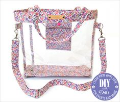 Clear View Vinyl Tote for Events and More: Dritz Metal Hardware & Plastic Snaps | Sew4Home