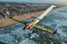 "At the helm of his high-performance ""Skyracer"" with its truly extraordinary appearance, Frenchman Mika Brageot will now be heading the Breitling Racing Team in the Master Class category of the Red Bull Air Race- Breitling - Instruments for Professionals"