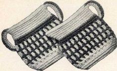 Vintage Crochet PATTERN Sugar n Creamer Pot Holder by BlondiesSpot