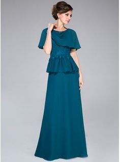 Mother of the Bride Dresses - $157.99 - A-Line/Princess Cowl Neck Floor-Length Chiffon Mother of the Bride Dress With Lace Beading Sequins Cascading Ruffles  http://www.dressfirst.com/A-Line-Princess-Cowl-Neck-Floor-Length-Chiffon-Mother-Of-The-Bride-Dress-With-Lace-Beading-Sequins-Cascading-Ruffles-008040837-g40837