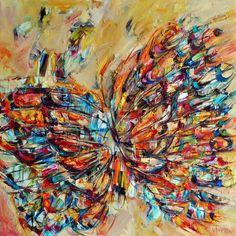British contemporary artist Victoria Horkan's colorful Butterflies paintings are gorgeous bursts of color that streak across the canvas. Viewers will immed