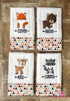 Handmade Dribble Bib /& Burp Cloth Set ~ CHRISTMAS ~ REINDEER~ KOALA ~ TEDDY BEAR