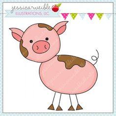 Stick Figure Pig - JW Illustrations