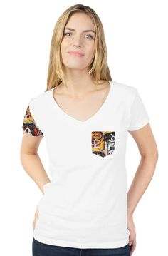 Women's T-shirts/DLF lil rocker Young People, Squad, V Neck, Bride, Pets, T Shirt, How To Wear, Stuff To Buy, Fashion Design