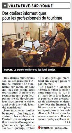 Les ateliers numériques de l'office de tourisme de Villeneuve-sur-Yonne Villeneuve, L Office, My Job, Internet, Memes, Computer Science, Beginning Sounds, Atelier, Meme