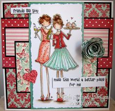 Honey Bootique: Stamping Bella Uptown Girls Felicity and Blair