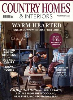 Warm hearted. Gefunden in: COUNTRY HOMES + INTERIORS, Nr. 11/2016