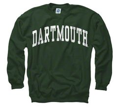 $27 Dartmouth Big Green Dark Green Arch Crewneck Sweatshirt.  Love wearing Bill's Dartmouth sweatshirt, it's one of the things I love...wearing my husbands clothes.