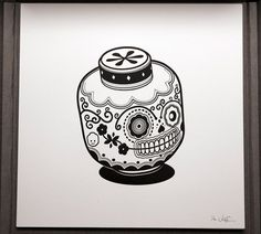 Inspirational Art: Jonathan Koshi took pop culture icons and put a Day of the Dead spin on them.