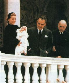 1957 - Official presentation of Princess Caroline of Monaco on her christening day in March