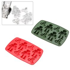 Creative Robot Shape Ice Mould Silicone Ice Cube Tray Mold Ice Mould Fits For Water Bottle Ice Cream Tools