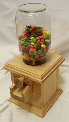 Hand-made Wooden Candy Dispenser M&M Peanut by DavesWoodDesigns