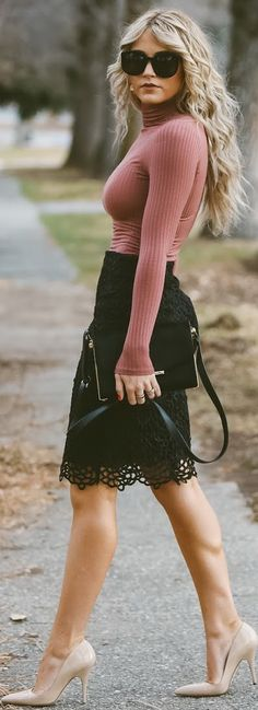 Love the skirt, not the turtle neck