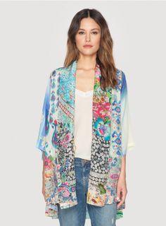 Mix Print Kimono - Plus Sizes