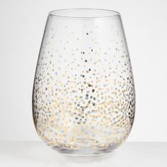 One of my favorite discoveries at WorldMarket.com: Metallic Confetti Stemless Wine Glasses Set of 4
