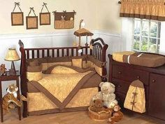Tan Paisley Western - Cowboy Baby Bedding - Cowgirl Crib Bedding - Western Nursery Sets