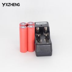 4PCS 3.7V 2600MAH UR18650ZY Rechargeable battery For Sanyo  +1PCS Charger 18650 for sanyo