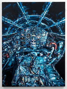 Michael Kagen's Space-Based Paintings Explore the Fatalistic Power of Manmade Machinery