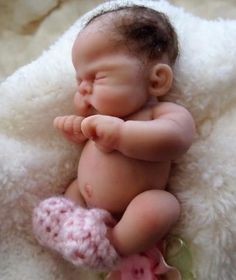 OoAK Mini Full Sculpt Art Baby by*Bttrfly Creations                                                                                                                                                                                 More