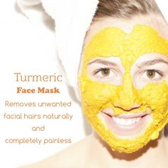 Are you looking for a solution to get rid of facial hairs naturally? Use Turmeric face pack that promise you to give desired results without any skin irritation.  How to prepare the mask: Blend turmeric powder with normal water and apply the paste on an affected area and let it dry. Then, wash your face with lukewarm water and use the treatment frequently. #VegetaPersonalCare