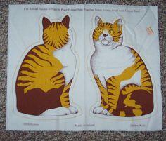 Tabby Cat Printed Pillow Pattern, Ireland