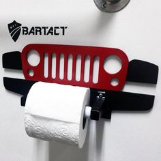 Introducing the New Bartact Jeep Wrangler JK Grille Toilet Paper Holder. Now you can take your Jeep indoors. Choose between Red, Bla Car Part Furniture, Automotive Furniture, Automotive Decor, Garage Furniture, Jeep Wrangler Tj, Jeep Jk, Jeep Wrangler Unlimited, Jeep Wrangler Accessories, Jeep Accessories
