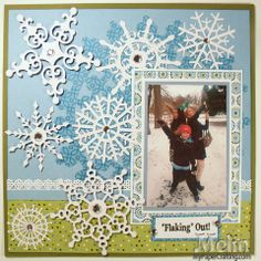 Flaking Out Scrapbook Layout - Scrapbook.com