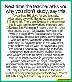 If you didn't study, here's your answer… wish i would have seen this in highschool.