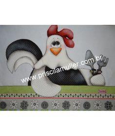 Projeto de Pano de Prato de galinha jardineira 1