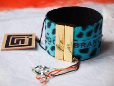 Bracelet manchette en tissu Copa Cabana