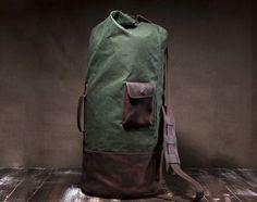 de29dbffc3c3 Military Duffle Bag by Tram21 on Etsy https   www.etsy.com
