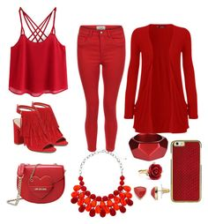 """""""Red"""" by belive-in-yourself on Polyvore featuring New Look, Vince Camuto, WearAll, Chaps, Oscar de la Renta, McQ by Alexander McQueen and Love Moschino"""