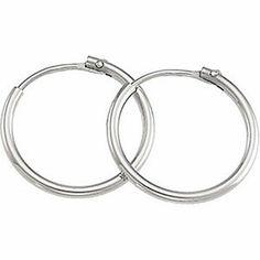 Platinum Hoop Earrings For Ladies Classic Design - 15mm GemAffair. $449.99. Save 45% Off!