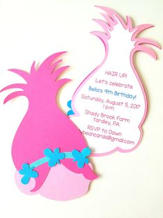 Trolls Party Invitations Pack of 10