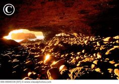 Sea Cave at Sombrio Beach. Sunset is the best time. lights up the cave. <3