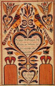 Fraktur, Pennsylvania Dutch Folk Art.