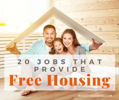 If youre sick of blowing between a quarter and half of your income on housing and youre open to a career change here are 20 jobs that provide free or subsidized housing. Make Money Blogging, Saving Money, Money Tips, Medical Help, Career Change, Time Management Tips, Online Earning, Retirement Planning, Home Free