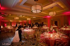 Wedding Reception Room Shot At Ritz Carlton Battery Park By Flowers Of The World Nyc Weddingflowers Real Weddings Pinterest