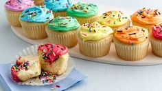 Make your celebrations even more exciting with these surprise-on-the-inside cupcakes filled with colorful sprinkles.