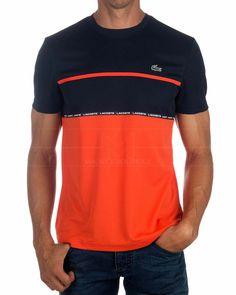 Lacoste T-Shirt – Grau & Marineblau – Mustafa Dorukhan – Welt der Deutschen Mens Polo T Shirts, Boys Shirts, Cool T Shirts, Casual Shirts, Lacoste T Shirt, Polo Outfit, Junior Shirts, Shirt Makeover, Cheer Shirts