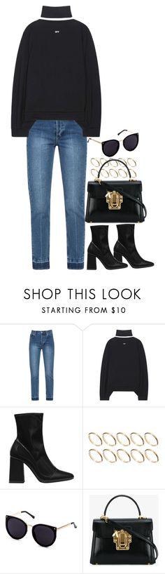 """#"" by bruna-linda-12 on Polyvore featuring moda, Off-White, Zara, ASOS e Dolce&Gabbana"