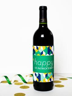 DIY St. Patrick's Day Printable Bottle Labels | Sarah Hearts