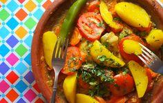 tajine aux legumes Marrakech, Saveur, Main Meals, Morocco, Oriental, Rainbow, Windows, Stuffed Peppers, Doors
