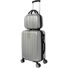 Luggage Sets Collections | World Traveler Monaco 2Piece Expandable Carryon Spinner Luggage Set Silver ** Check out the image by visiting the link. Note:It is Affiliate Link to Amazon. #mylove