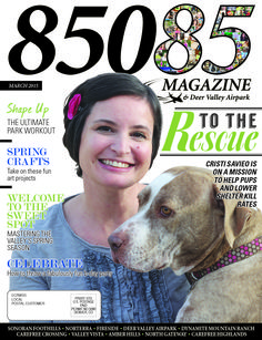 The March '15 cover of 85085 Magazine Produced by The Media Barr www.85085magazine.com www.themediabarr.com