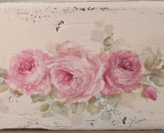 Shabby Romantic Vintage Style Large Roses Tote - Debi Coules Romantic Art