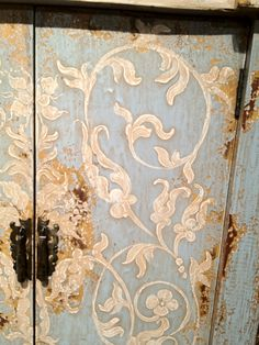 detail of painted doors