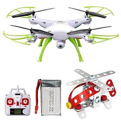 Syma X5HW FPV 24Ghz 4CH RC Headless Quadcopter Drone UFO with Hover Function HD Wifi Camera White ** Learn more by visiting the image link.