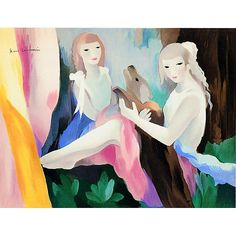 (France) Dance by Marie Laurencin oil on canvas. Art And Illustration, Portraits, Portrait Art, Art Eras, Fauvism, Artist Gallery, French Artists, Oil On Canvas, France